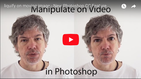 Using the Liquify Tool on Moving Image – Photoshop CC - Red