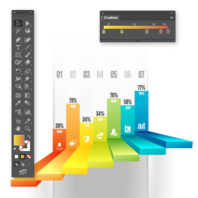 Illustrator tools with Infographic