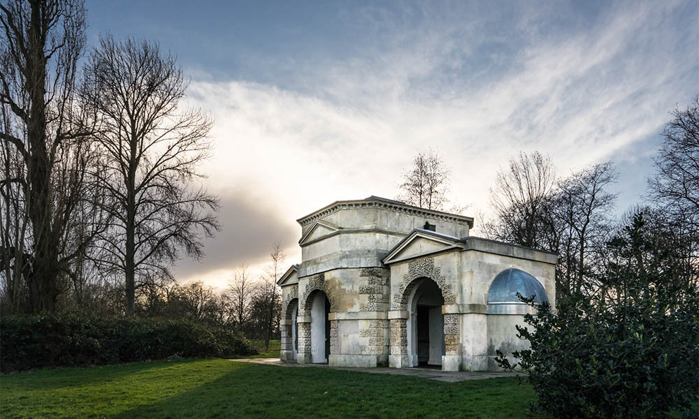 Edited Hyde park Queen Caroline temple in Adobe raw file converter