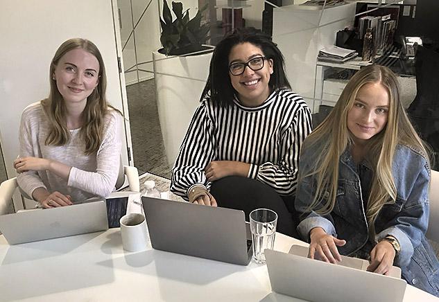 ShiSeido ladies having InDesign training in London