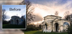 Image before and after photoshop correction
