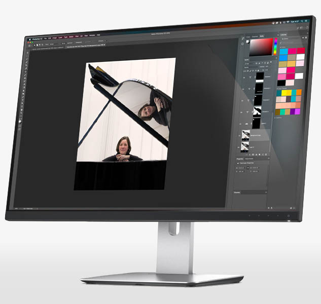 Large monitor with photoshop