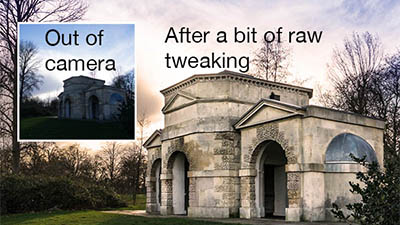 Using the raw file converter in Adobe Photoshop