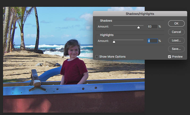 Using the Shadows/Highlights tool as a form of Exposure Compensation