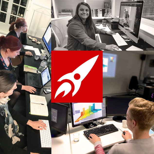 Groups or one to one learning Illustrator in beginners course Red Rocket Studio
