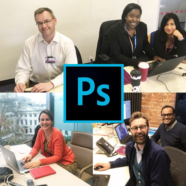 Learning Adobe Photoshop at the office