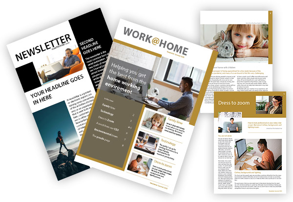 online training and newsletters linkedin just brochures